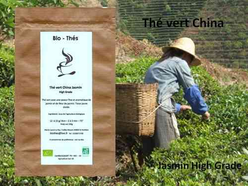 Thé vert China jasmin High Grade Bio 100g