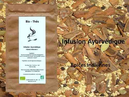 Infusion Ayurvédique Epices indiennes Bio 100g